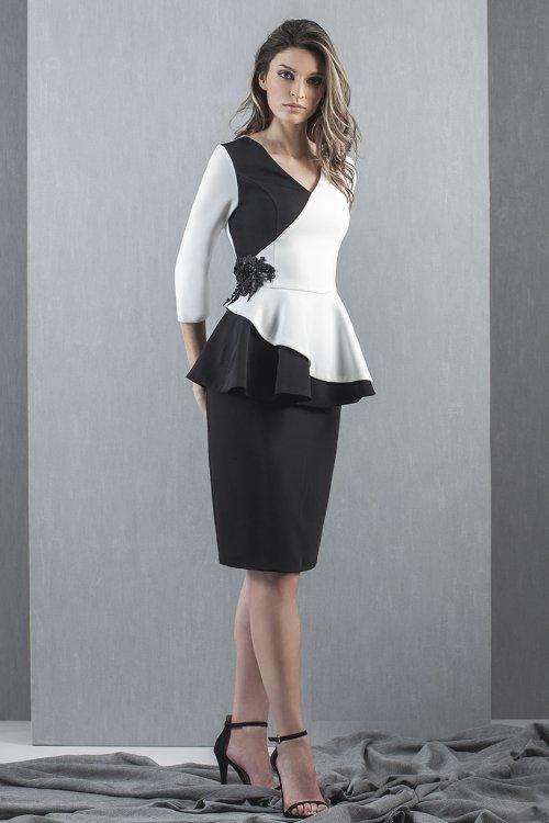 Vestido MONCHO HEREDIA Corto Bicolor 1050.17