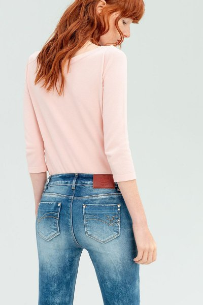 Jeans FRACOMINA Con Parches Y Strass FR20SPJKATY4