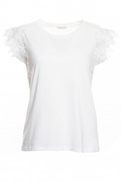 Camiseta FRACOMINA Con Encaje FR20SP344