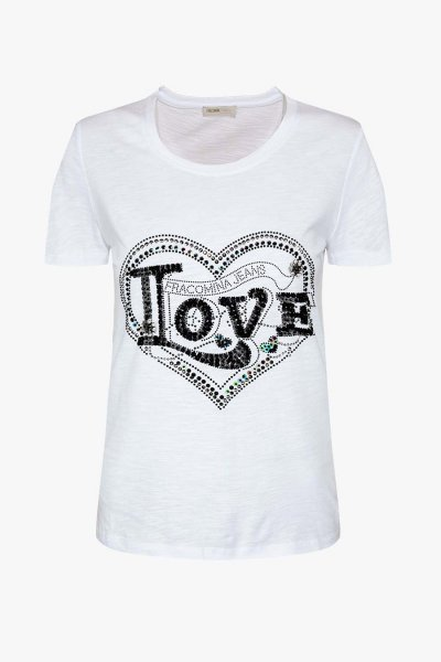 Camiseta FRACOMINA Love Con Strass FR20SP315