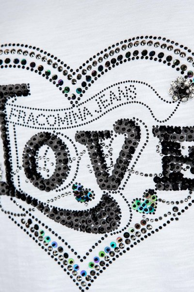 Camiseta FRACOMINA Love Con Strass FR20SP315