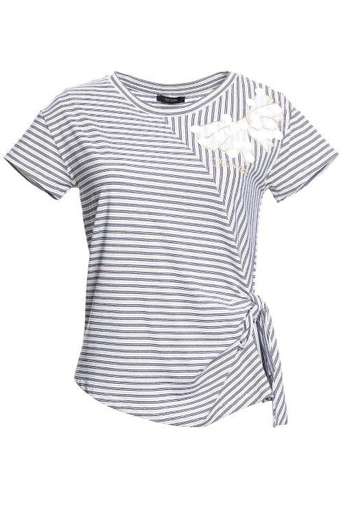 Camiseta FRACOMINA Asimétrica Maxilentejuelas FR20SM029