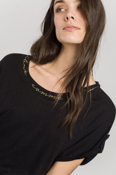 Camiseta ALBA CONDE Ligera Negra 2817-501-20