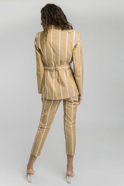 Blazer ALBA CONDE Camel Rayas 1104-136-63