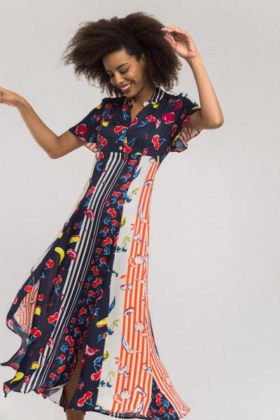 Vestido ALBA CONDE Midi Frutas 2424-444-30