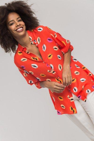 Camisa ALBA CONDE Estampada Labios 2314-440-55