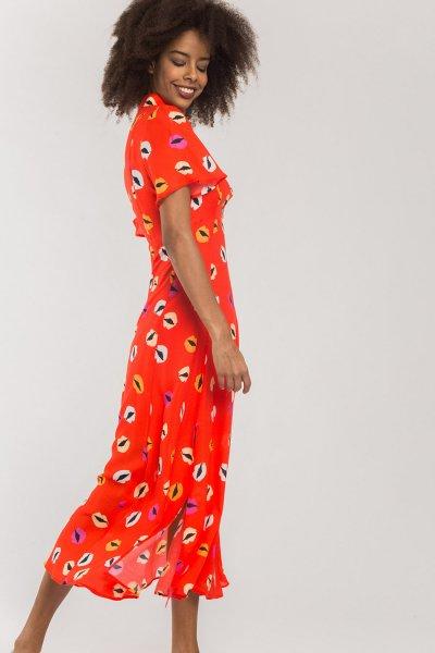 Vestido ALBA CONDE Midi Labios 2424-440-55