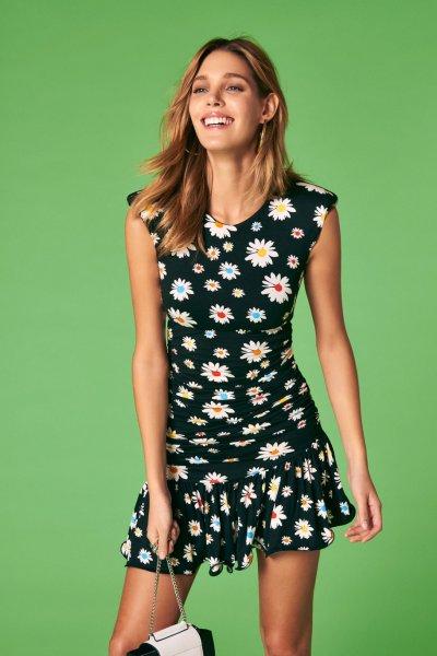 Vestido DENNY ROSE Drapeado Margaritas 011DD10059