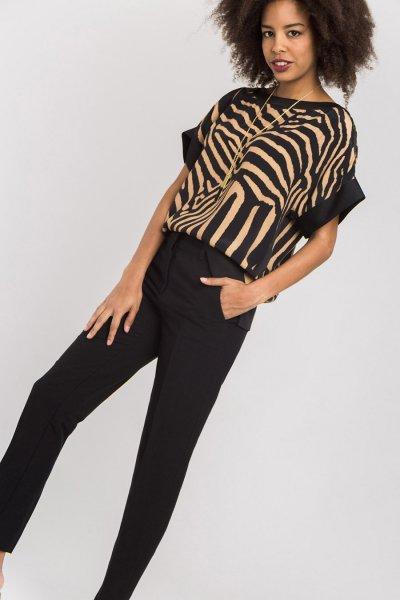 Blusa ALBA CONDE Estampada Cebra 2307-628-21