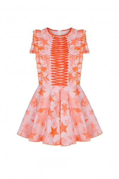 Vestido GUTS & LOVE Chaotic Stars Naranja V-20-0-015