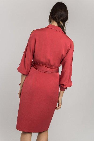 Vestido ALBA CONDE Cruzado Satén 2421-420