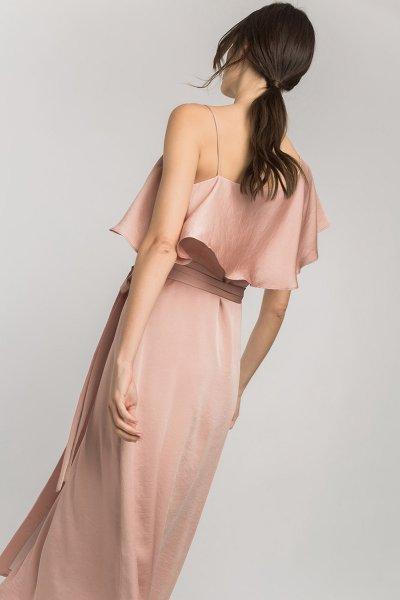 Vestido ALBA CONDE Satén Volantes 2402-420-75