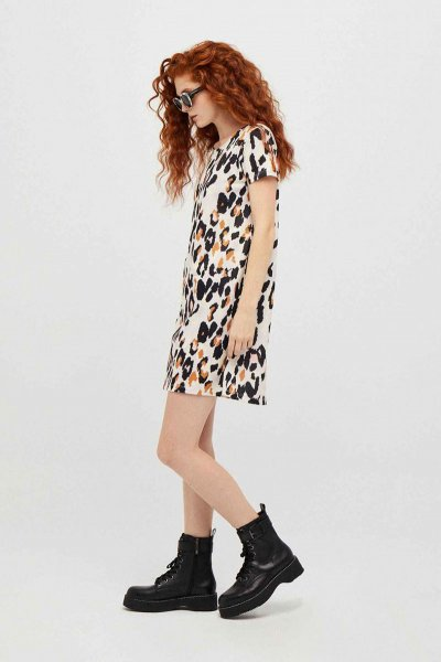 Vestido DOLORES PROMESAS Estampado Leopardo 108742
