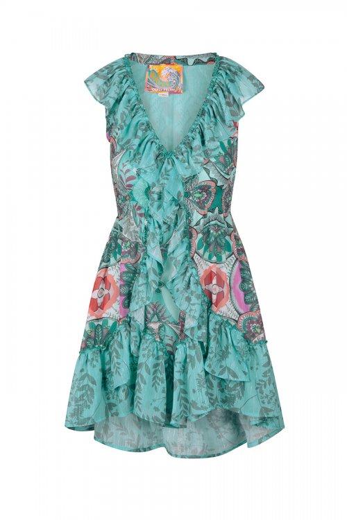 Vestido HIGHLY PREPPY Gasa Cola 7761