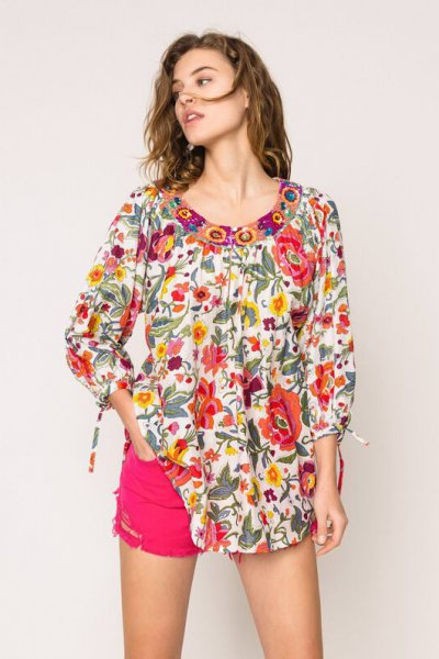 Blusa TWINSET De Flores Con Bordado 201TT2250