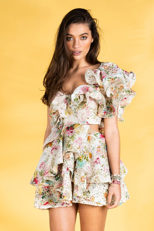 Vestido GUTS & LOVE Ruffle Of Roses V-20-0-032