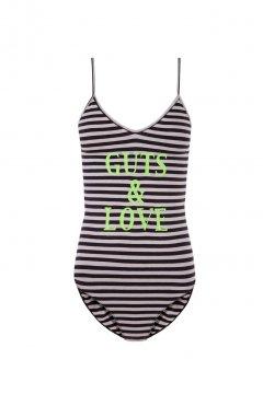 Body GUTS & LOVE Strippes Verde Neón A-20-6006