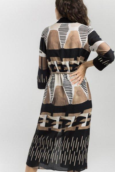Vestido ALBA CONDE Camisero Estampado Étnico 1403-340-20