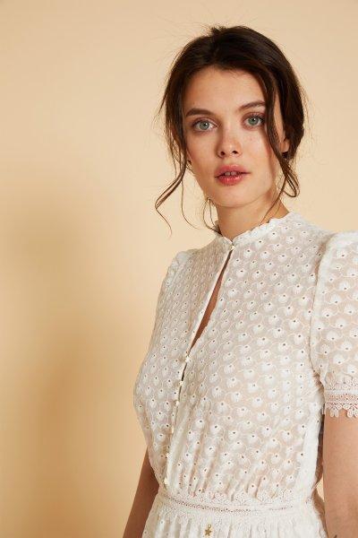 Vestido PATI CONDE Bordado Blanco 8910-201