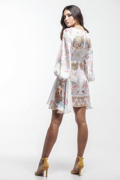 Vestido MASAVI Estampado Falda Fluida 2006