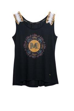 Camiseta MASAVI Logo Negra 2056