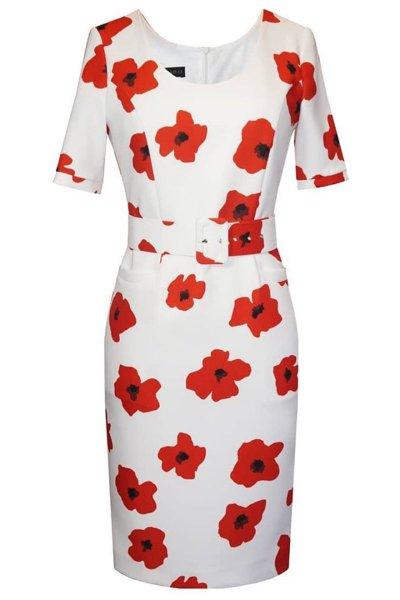 Vestido ARGGIDO Estampado Flores y Cinturón 43556