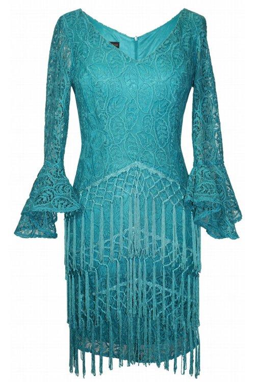 Vestido ARGGIDO Encaje y Flecos 43611