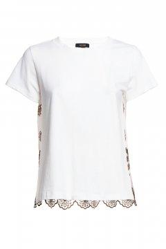 Camiseta FRACOMINA Blanca Espalda Bordada FR20SM332