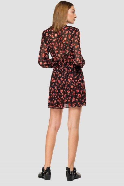 Vestido REPLAY Georgette Estampado Flores W9614 72084