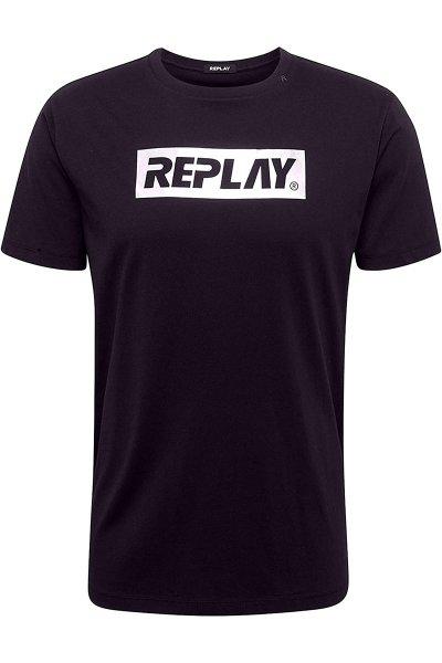 Camiseta REPLAY Logo Metalizado M3017 2660