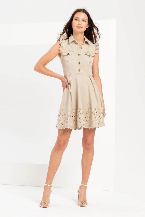 Vestido FRACOMINA Denim Strass FR20SPJ103