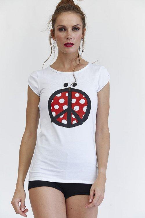 Camiseta MANGATA Peace Blanca 2001-0700-403