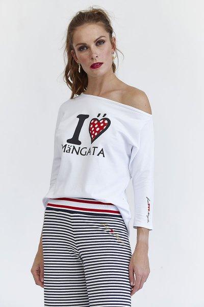 Camiseta MANGATA Escote Barco I Love 2001-0700-441