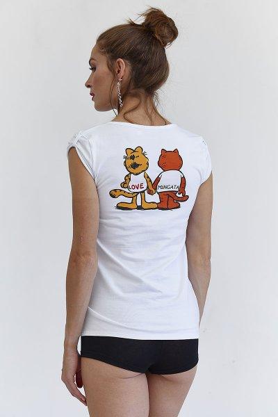 Camiseta MANGATA Blanca Gatos 2001-0700-401
