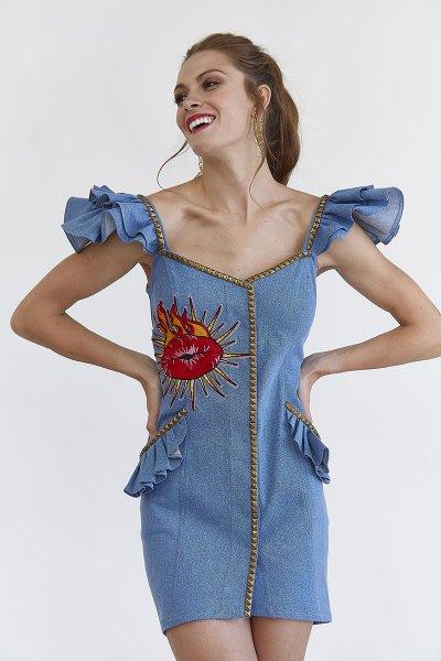Vestido MANGATA Denim Tirantes 2001-0310-112