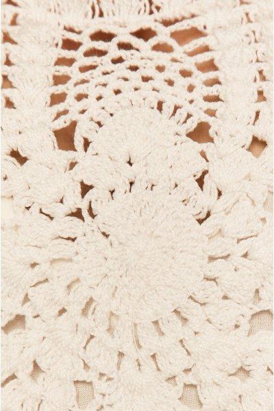 Vestido TWINSET Combinado Crochet Crudo 201TT2242