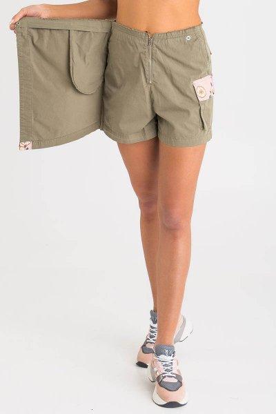 Shorts PINKO Sarga Verde Adornos Estampados 1B14EXY67H