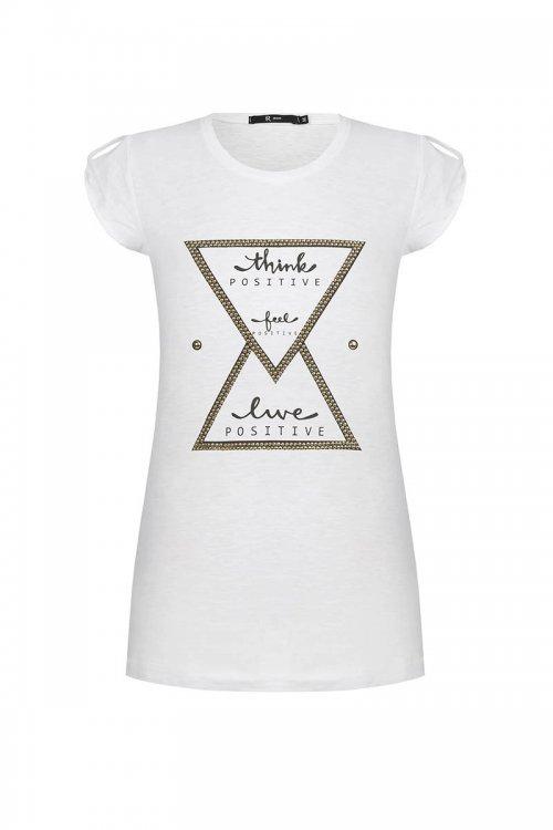 Camiseta RINASCIMENTO Think Feel Live Positive CFC0097165003