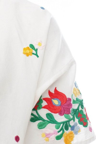 Camiseta TWIN-SET Bordada Flores JS72UB
