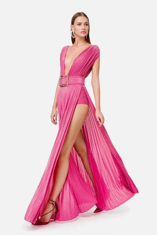 Vestido ELISABETTA FRANCHI Largo Abertura Lateral AB03102E2