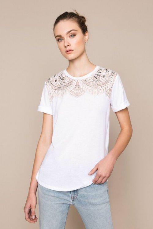 Camiseta TWINSET Adorno Pechera 201TP246A