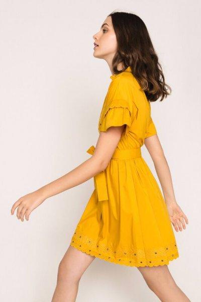 Vestido TWINSET Popelina Bordado 201TT2062