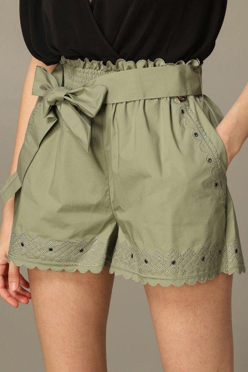 Shorts TWINSET Verde Bordado 201TT2064