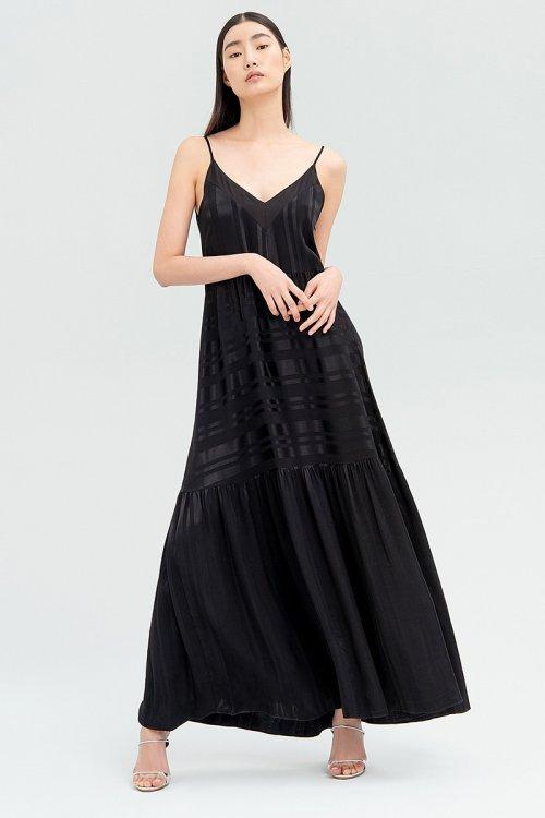 Vestido FRACOMINA Negro Largo FR20SM546