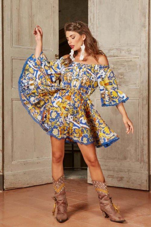 Vestido ANTICA SARTORIA Estampado 2020V732