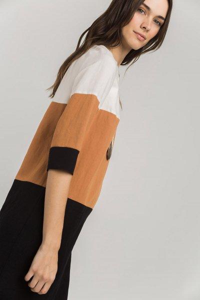 Vestido ALBA CONDE Tricolor + Collar 2411-610-37