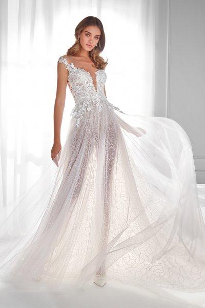 Vestido AURORA Tul Interior Bordado Glitter AU12151