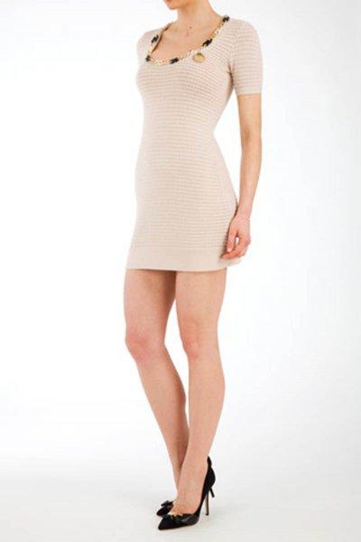 Vestido ELISABETTA FRANCHI Beige AM0276265