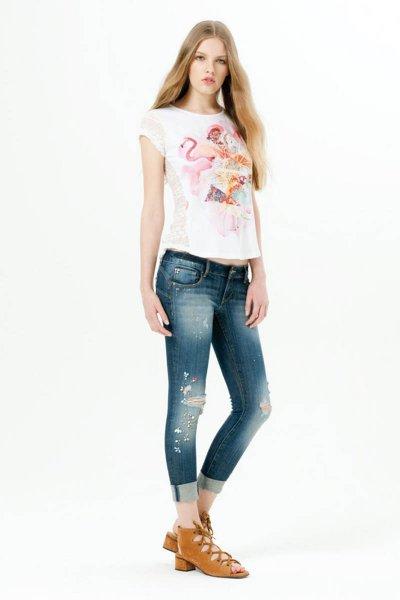 Camiseta FRACOMINA Combinada  FR17SP305