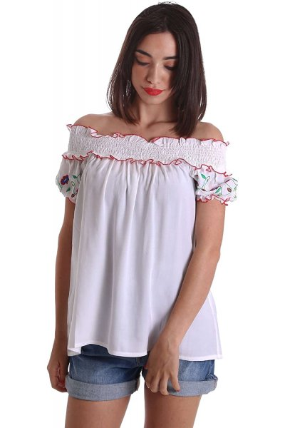 Camisa DENNY ROSE Off Shoulder Bordada